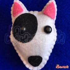Broche Bull Terrier en Fieltro