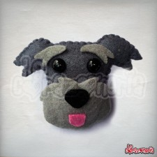 Broche Schnauzer en Filetro