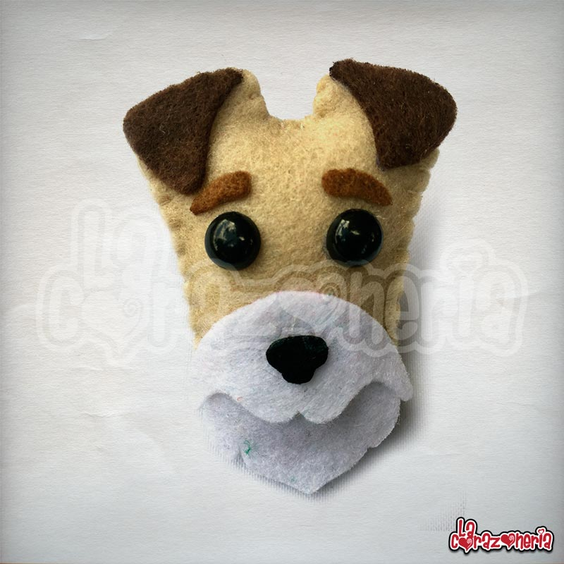 Broche Wire Fox Terrier en Fieltro