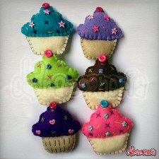 Broches Cupcakes